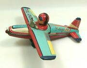 1950s Pony Tail Airplane Toy - Kanto Japan 18cm, Friction Works