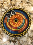 Antique Andldquoflicker Topandrdquo Tin Spinner Toy Usa Optical Illusion Spinning Disk