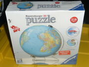 Ravensburger 3d Puzzle 540 Pieces + Display Stand World Globe Cool Looking New