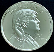 President Donald J. Trump 2 Oz Ultra High Relief .999 Silver Round Coin Limited