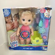 Baby Alive Potty Dance Baby Doll Blonde Blue Eyes E0609 New With Damaged Box