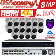 Hikvision Security Cctv System Kit 16ch Nvr 2mp Turret Ip Camera Waterproof Lot