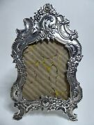18th Century French Roccoco Sterling Silver Picture Frame Miniature Portrait