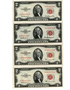 ✯ 1953 A B And C Complete Series Two Dollar Note Red Seal ✯2 ✯us Currency✯