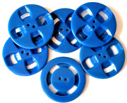 Set Of 6 Big Blue Double Cut Casein Buttonsandhellip1and3/8andhellip.nice