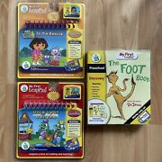 My First Leap Pad Preschool Pre-k Reading And Discovery Book And Cartridge Lot Nip