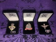 Disney Haunted Mansion Oand039pin Opin House 3 Pins Silver / Marcasite Stones Le 50