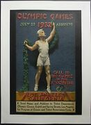 1932 Los Angeles Olympics Poster Call To The Games Xth Olympiad Kilenyi Original