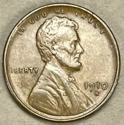 1910 S Lincoln Cent Wheat Penny 1005