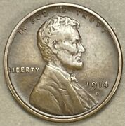 1914 D Lincoln Cent Wheat Penny 1012 1