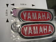 Repro Yamaha Xs1650 Dt1 Rt1 And Others Tank Badges Nice Red/blk/chr Lg Style T2r