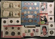 All American Junk Drawer Lot Silver Gold Silver Certificates Etc