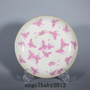 8.1 Old Porcelain Qing Dynasty Xianfeng Mark Famille Rose Gilt Butterfly Plate
