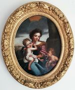 Madonna And Child Italian School Renaissance Old Master 17thc Antique Oil Painting