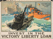 World War I Vintage 1919 Propaganda Poster Invest In The Victory