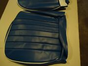 Austin Healey Bugeye New Seat Covers,2 Seats - Blue With White Piping '58- '65