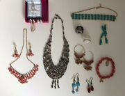 Costume Jewellery - Collection Of Necklaces, Earrings And Rings In Good Condition