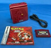 Pokemon Ruby Version 2003 Authentic With Manual + Gba Sp Ags 101 Groudon Reshell