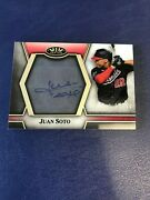 2021 Topps Tier One Juan Soto Clear One Auto /10 Washington Nationals C1a-jso