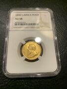 1898 Gold South Africa Pond Ngc Au58 Coin Au 58 African Krugerrand Sovereign