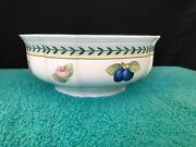 Villeroy And Boch 1748 French Garden Fleurence 8 Round Vegetable Bowl Brand New