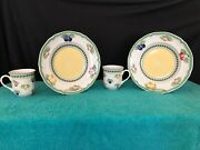Villeroy And Boch 1748 French Garden Fleurence 9 Salad Bowl 2 And Mugs 2 Euc