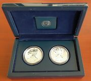 1 2013 United States Mint American Eagle West Point Two-coin Silver Set W/coa