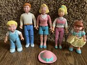 Loving Family 1993 Dollhouse Family Dad Mom Son, Daughter And Teen Daughter Dream