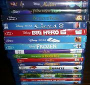 Blu-ray Lot Of 16 Disney Beauty And The Beast Up Aladdin Cars Bugs Life Frozen
