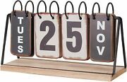 Daily Flip Iron Desk Calender Durable And Foldable Desktop Ornaments Metal Craft