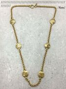 Necklace Pendant Choker Chain Auth Coco Vintage Rare Medal Gold Coin F/s
