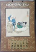 Japanese Calendar 1923 With Wood Prints Very Rare Collectible