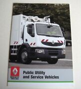 Renault . Public Utility And Service Vehicles . November 2006 Sales Brochure