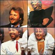 Abba - Fully Signed In 1982 - The Singles First Ten Years Double 12andrdquo Vinyl Promo