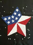 Patriotic Red White Blue Americana Star Shaped Beaded Charger Placemat X1 New