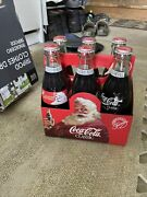 Coca Cola Full 8oz Bottles 6 Pack Limited Santa Edition 1991, Rare Collectible