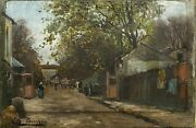 Painting Antique Charles Charlay-pompon 1836-1904 - Paris, The Butte The Quail