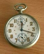 Huber Chronograph Pocket Watch With Register