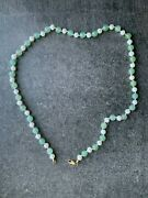 Chrysoprase Pearl And 14k Gold Beaded Necklace