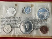 1867-1967 Canadian 6 Coins Proof Wildlife Set With Envelope And Certificate