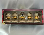 Rare - Westland Giftware Peanuts Charlie Brown Then And Now 5 Piece Set - New