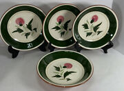 Stangl Pottery Mcm Thistle Coupe Soup/pasta Bowl 7 3/4andrdquo X 1 1/2andrdquo Set/4 Lot A Htf