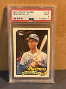 1989 Topps Traded Ken Griffey Jr. Rookie Card 41t Rc Mint Psa 9 Mariners
