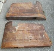 1954 Cadillac Coupe Ht Rear Int Armrest Panel Pair 2 Arm Rests Used Orig 54