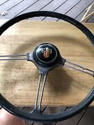 Rare Vintage 1960and039s 1970and039s Austin Car Steering Wheel And Horn Button