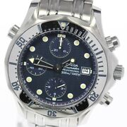 Omega Seamaster300 2598.80 Chronograph Navy Dial Automatic Menand039s Watch_631588