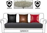 Home Decorative Soft Genuine Lambskin Leather Throw Cushion Pillow Cover