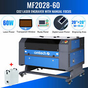 28x20 60w Co2 Laser Engraver Marking Engraving Cutting With Fume Extractor