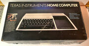 Vintage Texas Instruments Home Computer System Ti-99/4a Games Booklets Tapes