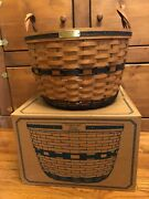 Longaberger Jw Collection 1991 Corn Basket With Protector And Box Collectible